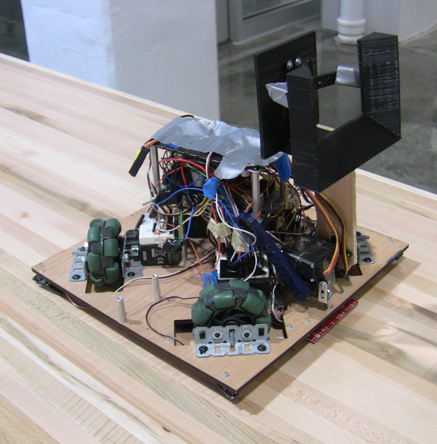 Duke IEEE's 2015 SoutheastCon robot, which placed 13th out of 50 teams. Some parts had been removed following the competition