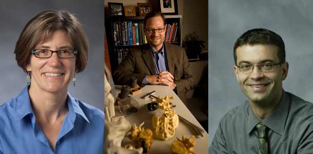 Kathryn Nightingale (left), Lawrence Boyd (center) and Nenad Bursac (right)