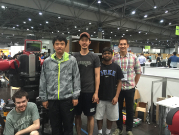 From left to rigth -  Haden Bader, Yilun Zhou, Hyunsoo Kim, Bernard Amaldoss, and Kris Hauser.