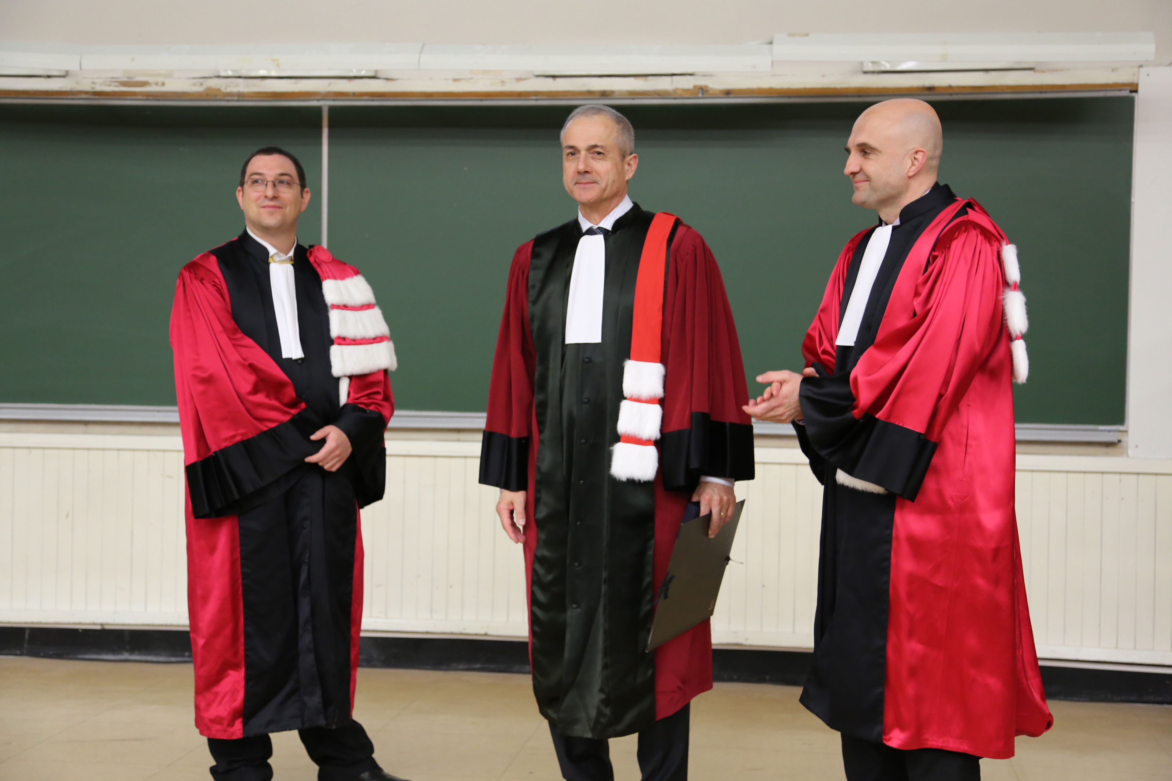 Adrian Bejan is awarded a Doctorate Honoris Causa—or honorary doctorate degree—by the INSA de Lyon (Institut National des Sciences Appliquees), one of France's leading universities.