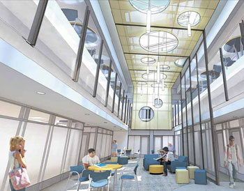 rendering of the new Winter Garden in Gross Hall