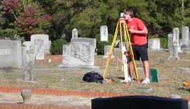 Aaron Schroeder in cemetery