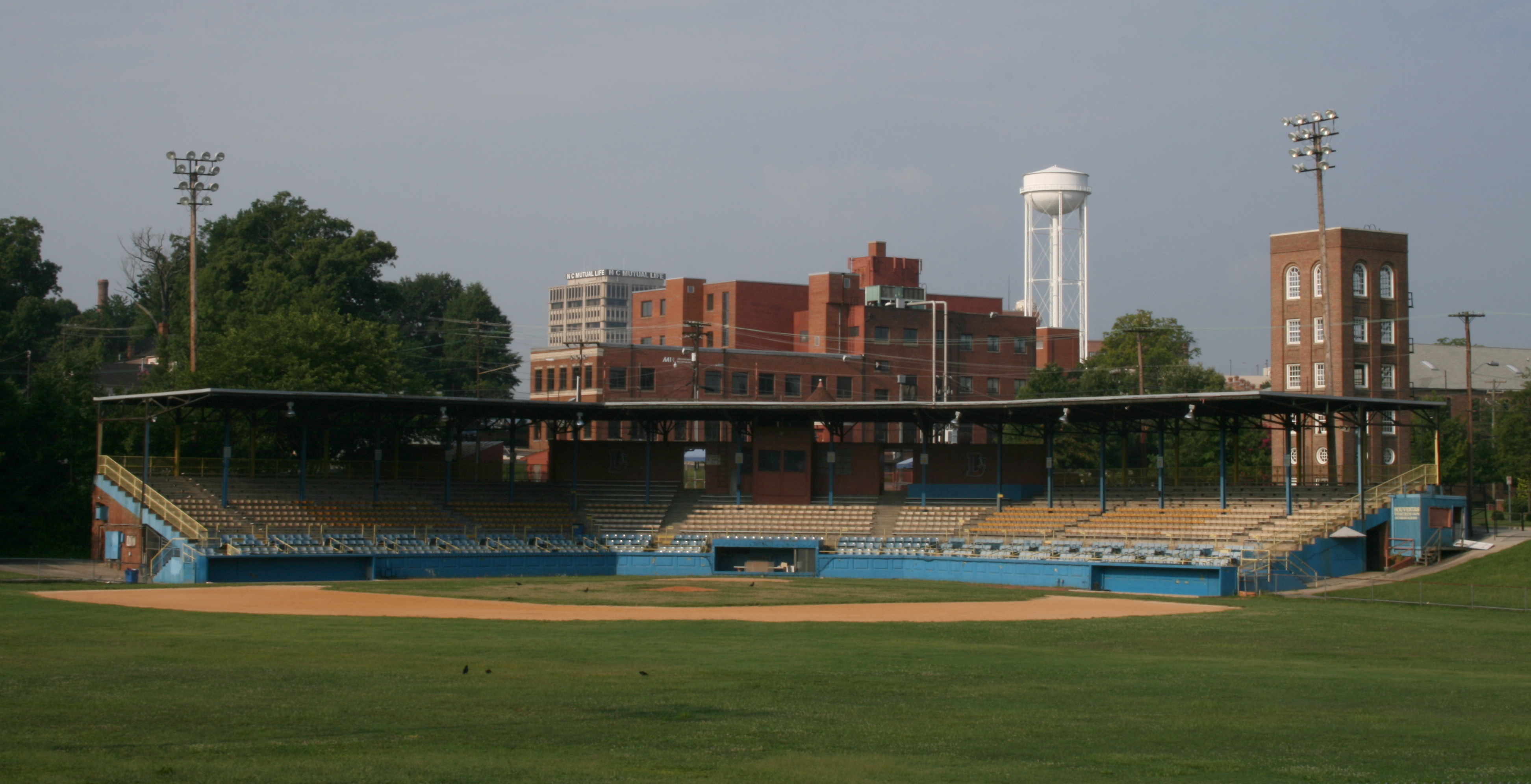The Durham Athletic Park in 2008. From the Wikipedia Commons.