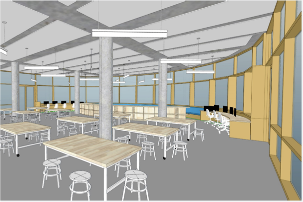 Rendering of the new workspace