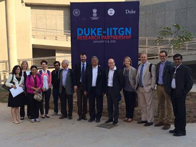 A few personnel from Duke and IITGN forging a partnership