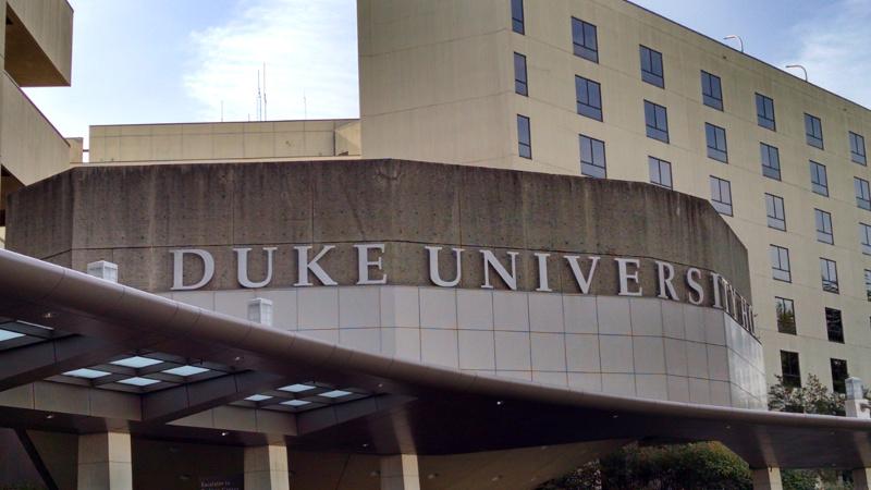 Duke University Hospital front entrance
