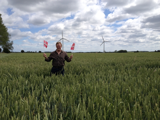 Needham in Denmark as the Niels Bohr Professor... wheat and windmills!