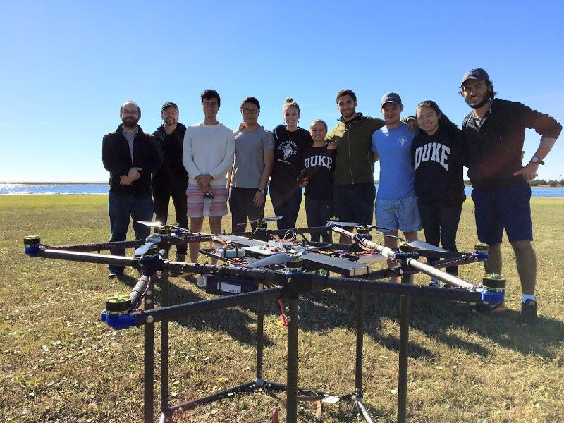 Sam Kelly with drone team