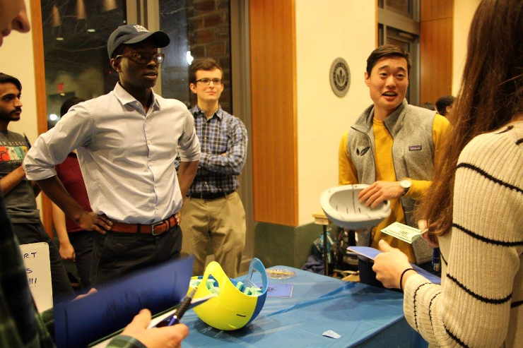 Students showcase their design projects at the Biomedical Engineering Design Symposium