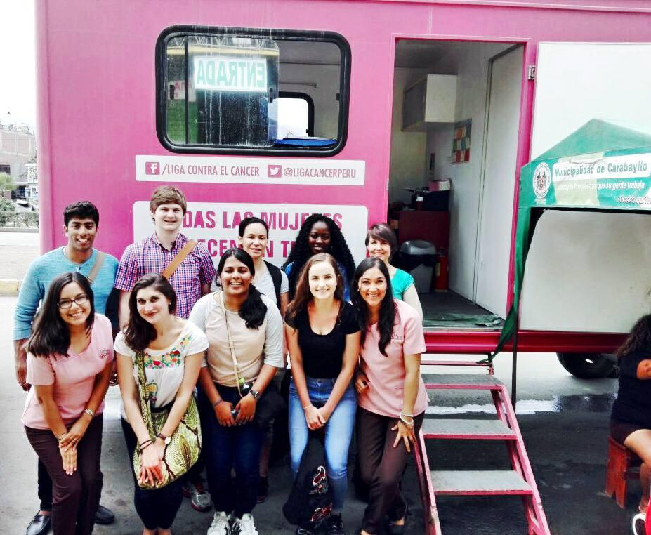 Students visit mobile clinics outside of Lima, Peru