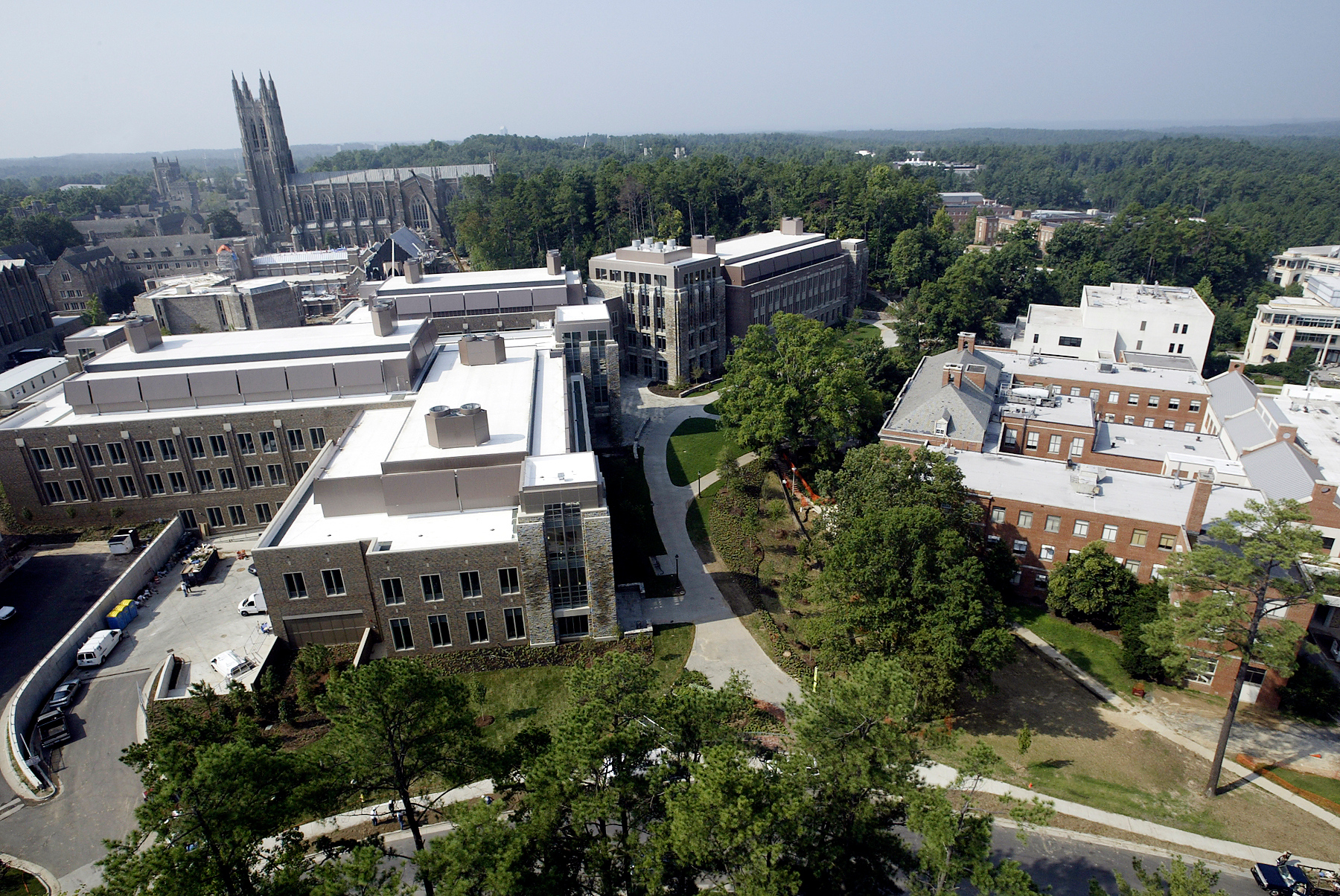 Aerial view of Duke Engineering