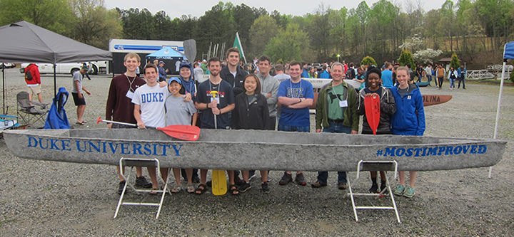 Duke ASCE at the 2015 concrete canoe competition