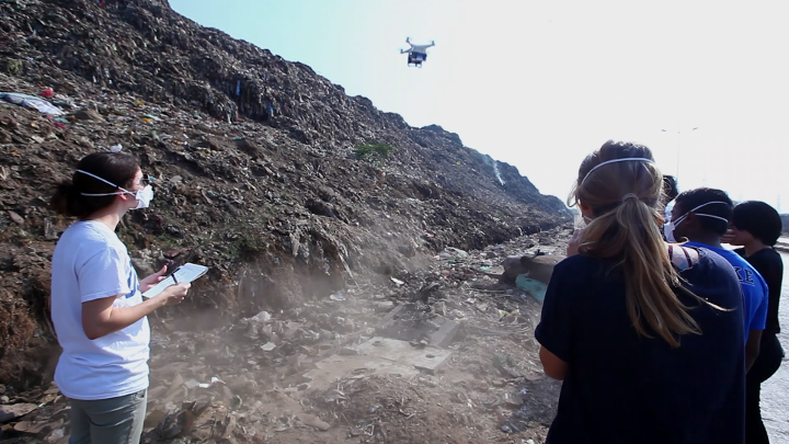 Drones were useful for measuring air quality several meters off the ground