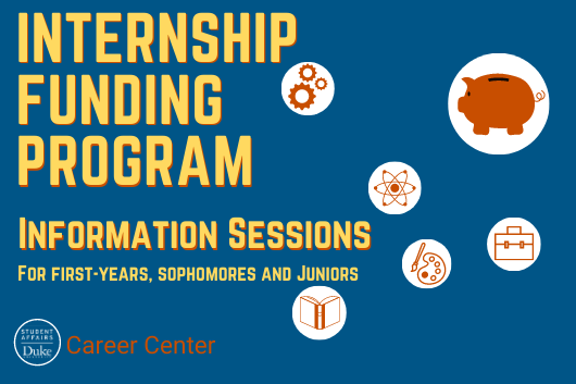 Internship Funding Program Information Sessions.
