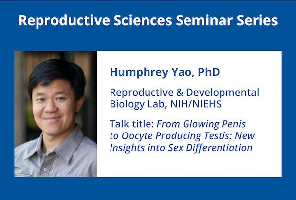 photo of Dr. Yao with title of talk