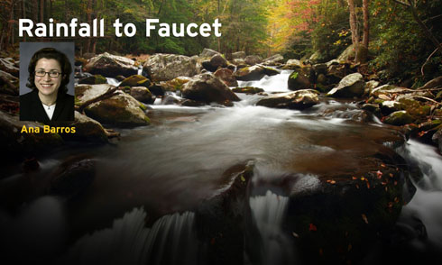 Rainfall to faucet