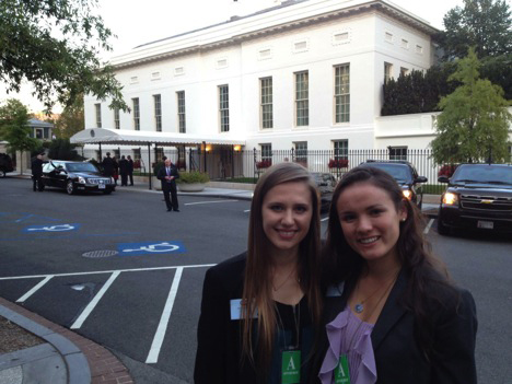 Daria Nesterovich and Melina Smith at White House BRAIN Conference