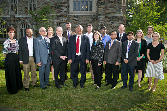 Duke faculty and their partners from India