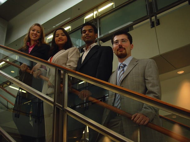 Masters of Engineering Management Program Fulbrighters Adnan Haider, Valerie Speth, Erdem Sahillioglu, Genoveva Wong
