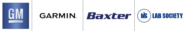 Partner logos-GM-Garmin-Baxter-Lab-Society