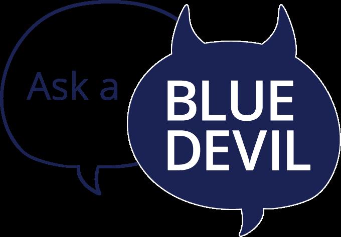 Ask a Blue Devil Graphic