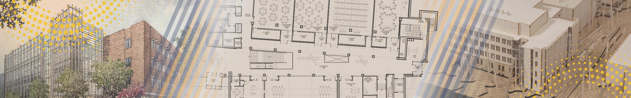 collage of building renderings