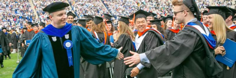 Faculty and students at Duke Commencement 2019
