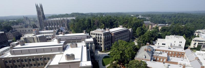 aerial view of Duke Engineering quad