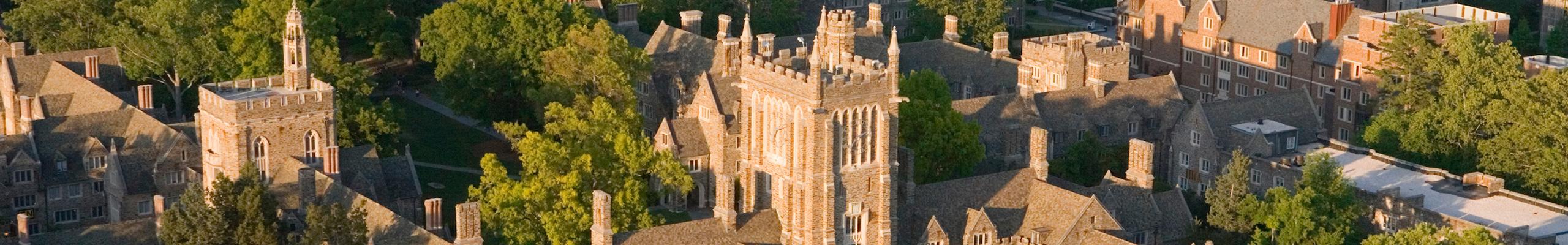 aerial photo of Duke West Campus