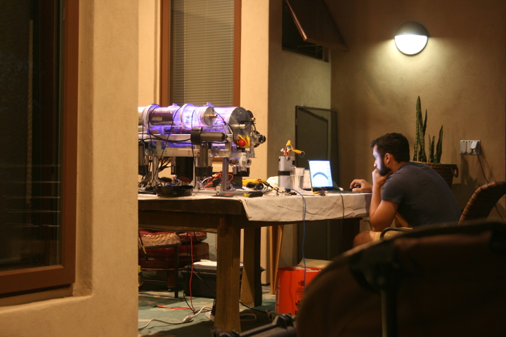 Sameer Khan E'19 designs a replacement part for 3D printing at the team's competition house