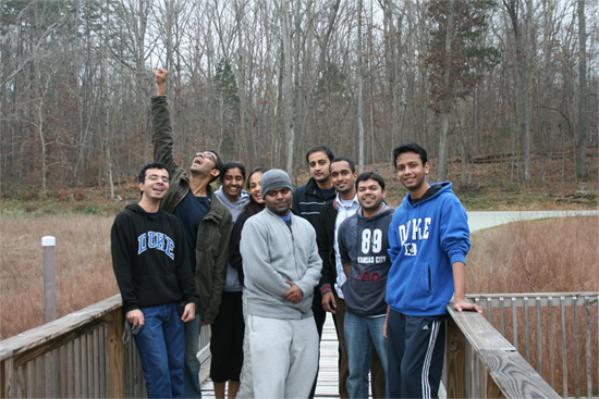 MEM students on a hike