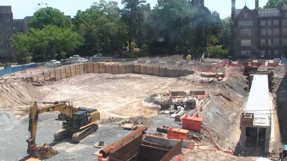 video screenshot of building construction