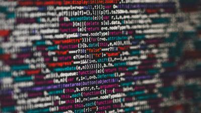 screen of computer code