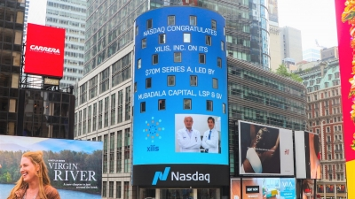 Nasdaq highlights Xilis on their tower in Times Square