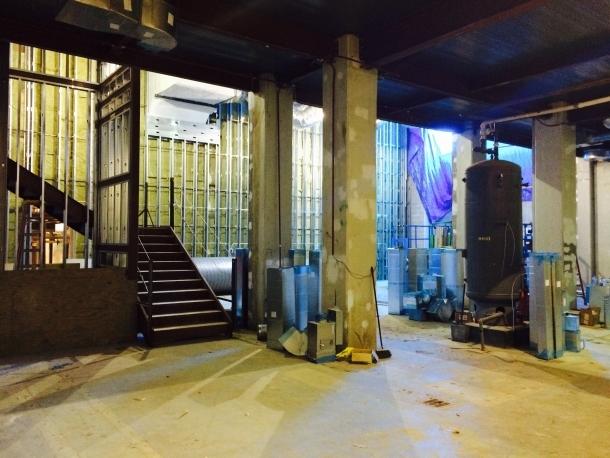Gross Hall basement construction
