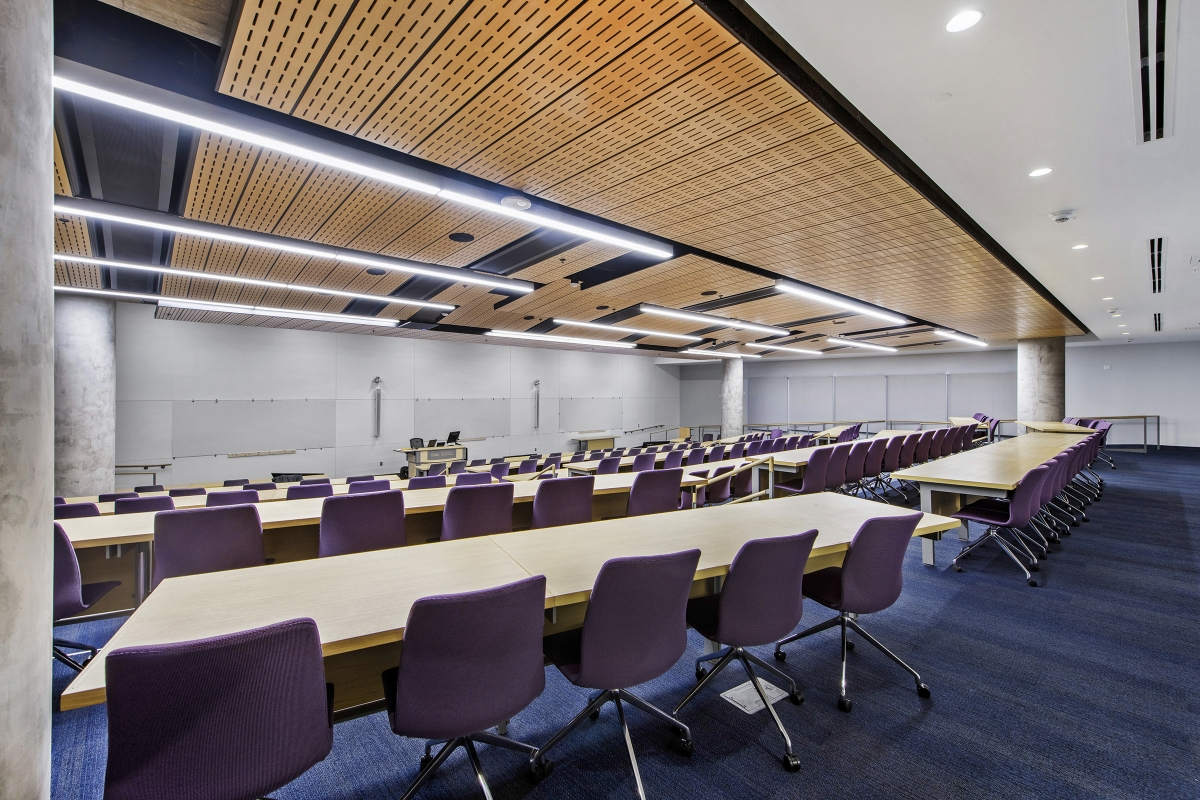 wide-angle view of auditorium