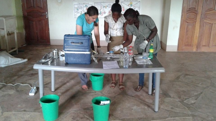 Michelle Moffa studies how to provide access to clean water during one of her trips for the Grand Challenge Scholar Program