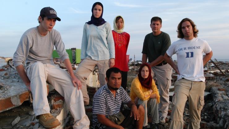 tsunami relief in Indonesia