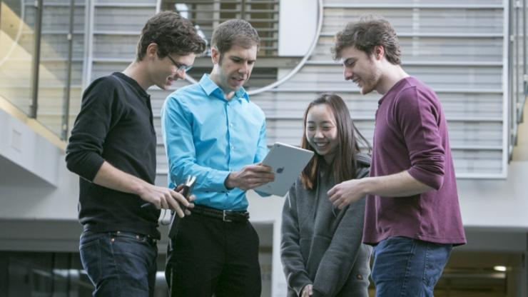 Kyle Bradbury works with a team of students on the original solar-panel-spotting computer algorithms