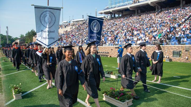 The Department of Electrical and Computer Engineering (ECE) at Duke conferred numerous awards and honors upon members of its graduating class during the 2018 commencement weekend, May 11-13