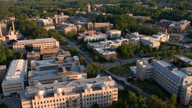 aerial view of Duke