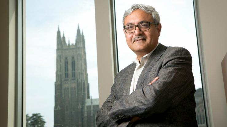 Ashutosh Chilkoti has agreed to remain chair of Duke University's Department of Biomedical Engineering for another five years