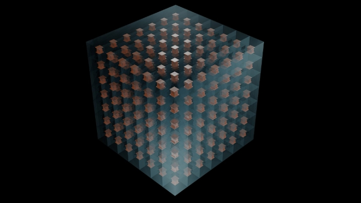 3D printed metamaterial illustration