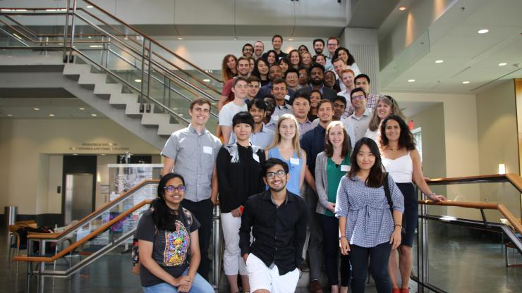 Students and faculty from the first-annual Duke BME Biomaterials Symposium