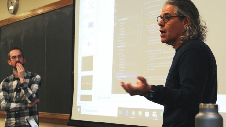 Jimmie Lenz with IBM's Brett Logan