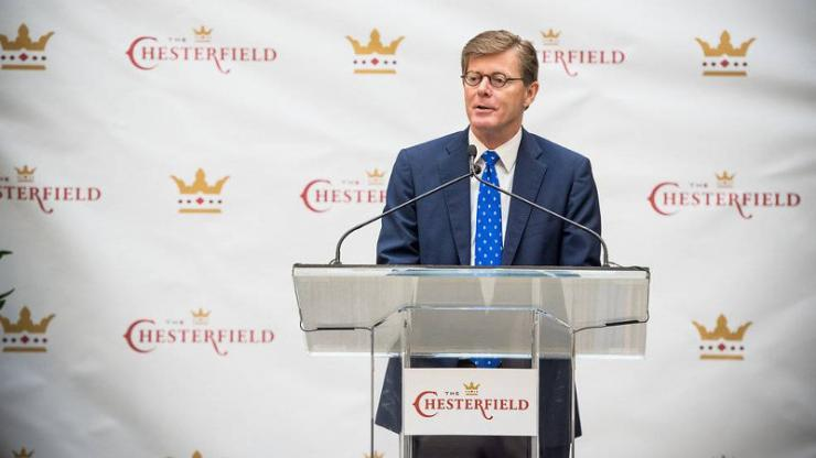 In remarks at the Chesterfield, President Vince Price outlined the value of Duke's investment in the Durham downtown. Photo copyright by f8 Photo Studios