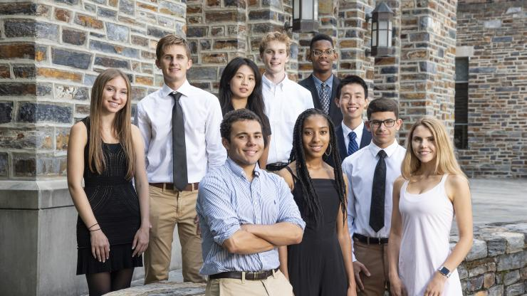 The inaugural class of A. James Clark Scholars at Duke.