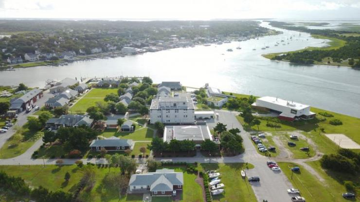 Aerial view of the Duke Marine Lab