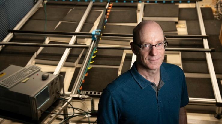 David Smith in lab