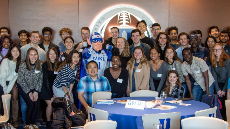 Students and staff at the Student Founders Program kick-off, Feb. 29, 2020.